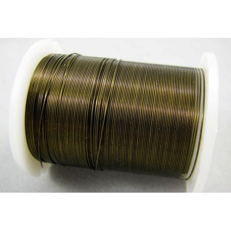 Copper wire, brown, 0.30 mm thick 10 meters