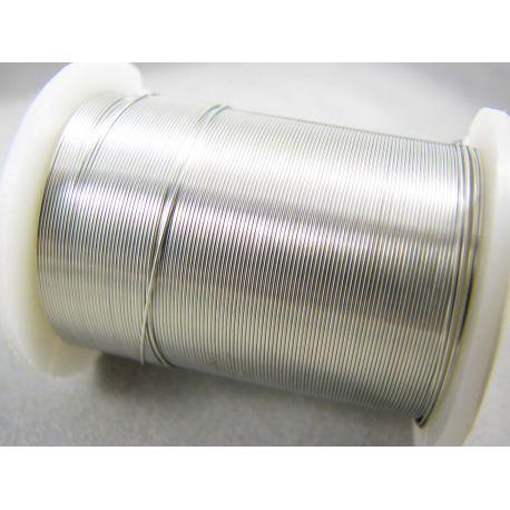 Varinė vielutė, sidabro spalvos, 0.30 mm storio 10 metrų