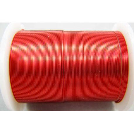 Varinė vielutė, raudonos spalvos, 0.30 mm storio 10 metrų