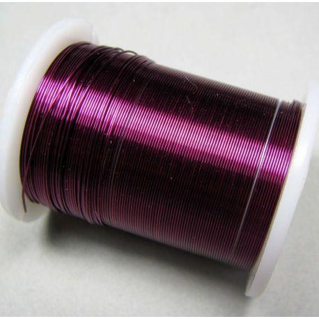 Varinė vielutė, violetinės spalvos, 0.30 mm storio 10 metrų