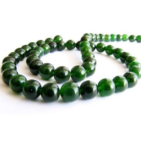 Emerald beads dark green round shape 6mm