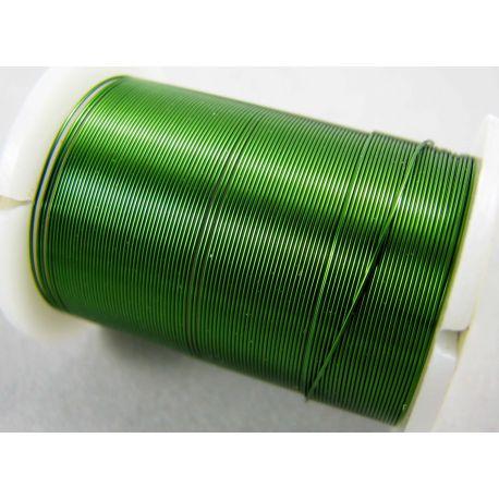 Varinė vielutė, žalios spalvos, 0.30 mm storio 10 metrų