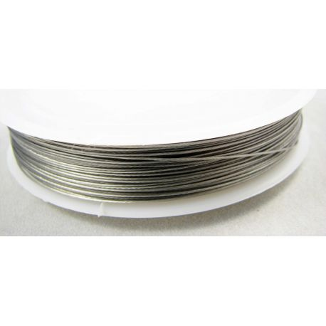 Jeweler cable dark silver color, 0.50 mm , ~35 meters, 1 coil.