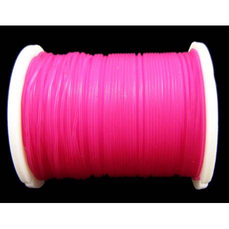 Elastīga gumija spilgti rozā 0,60 mm bieza 1 metrs