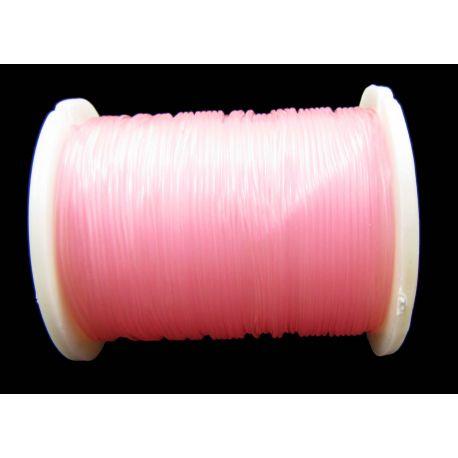 Elastīga gumija gaiši rozā 0,60 mm bieza 1 metrs