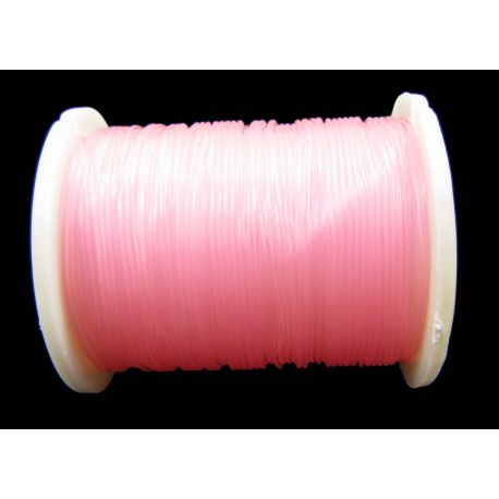Elastinė gumutė šviesiai rožinės spalvos 0.60 mm storio 1 metras