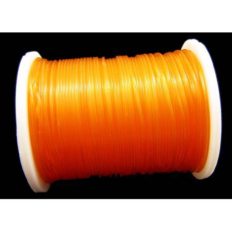 Elastic rubber orange pink 0.60 mm thick 1 meter