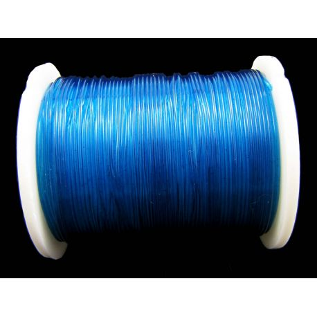 Elastic rubber blue 0.60 mm thick 1 meter