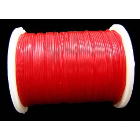 Elastinė gumutė raudonos spalvos 0.60 mm storio 1 metras