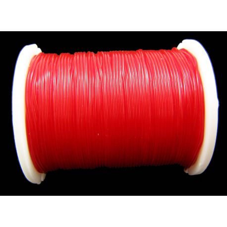 Elastic rubber red color 0.60 mm thick 1 meter