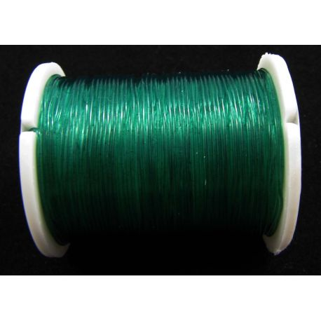 Elastic rubber green color 0.60 mm thick 1 meter