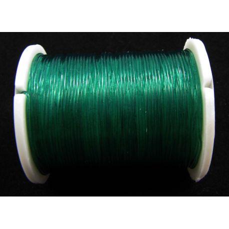 Elastinė gumutė žalios spalvos 0.60 mm storio 1 metras