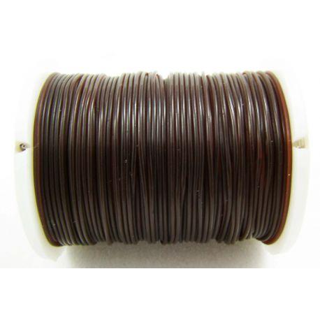Elastinė gumutė rudos spalvos 0.60 mm storio 1 metras