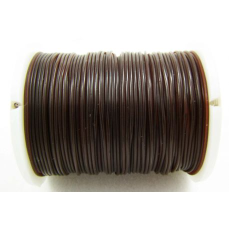 Elastic rubber brown 0.60 mm thick 1 meter