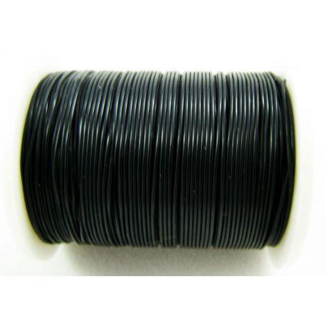 Elastinė gumutė juodos spalvos 0.60 mm storio 1 metras