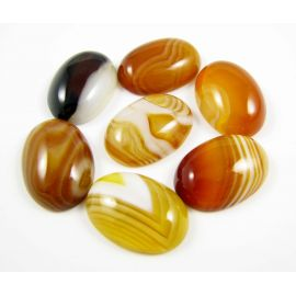Agate cabochon, oval, brown-orange 18x13 mm