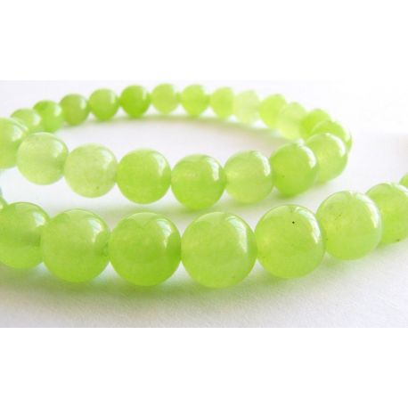 Peridon beads light green round shape 8mm