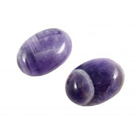 Amethist cabochon, oval, purple 25x18 mm