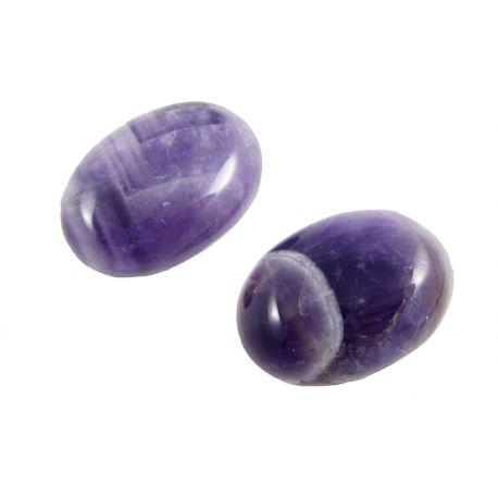 Ametistisks kabošons, ovāls, violets 25x18 mm