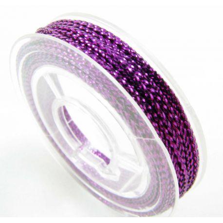 Metallized thread, purple, 0.6 mm thick