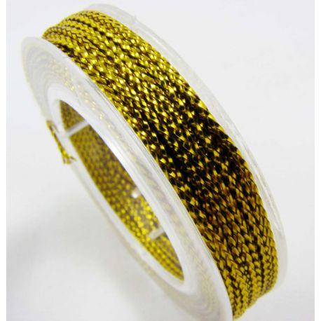 Metalizuotas siūlas, aukso spalvos, 0.6 mm storio