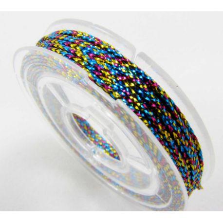 Metalizēts pavediens, krāsu asorti, 0,6 mm biezs