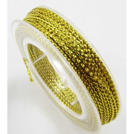 Metallized thread, yellow, 0.6 mm thick