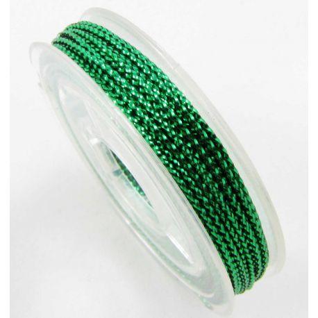 Metalizuotas siūlas, žalios spalvos, 0.6 mm storio
