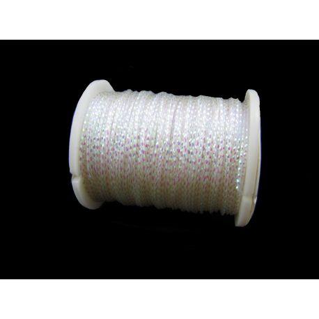 Metalizēta vītne, balta, 0,7 mm bieza