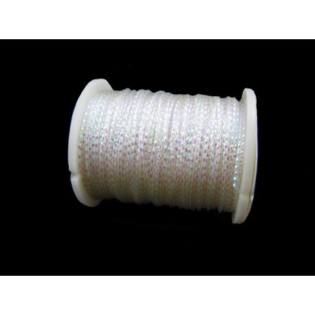 Metallized thread, white, 0.7 mm thick