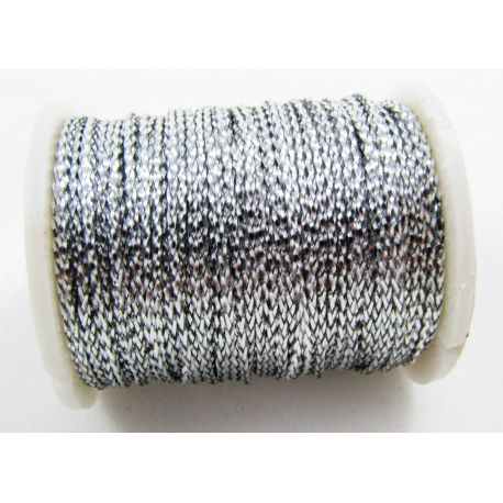Metallized thread, silver, 0.7 mm thick