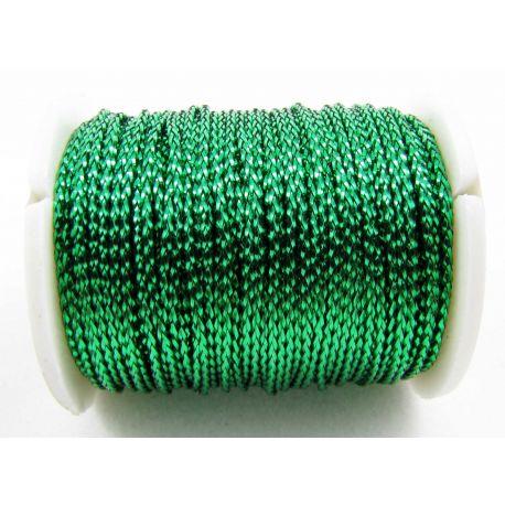 Metalizuotas siūlas, žalios spalvos, 0.7 mm storio