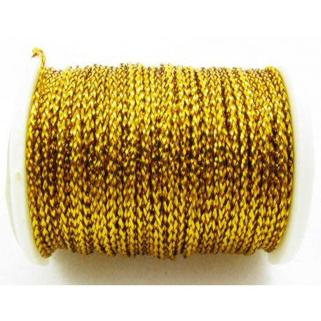 Metalizuotas siūlas, geltonos spalvos, 0.7 mm storio
