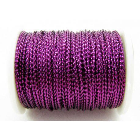 Metalizuotas siūlas, violetinės spalvos, 0.7 mm storio