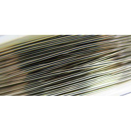 Varinė vielutė, sidabro spalvos, 0.50 mm storio 9 metrai