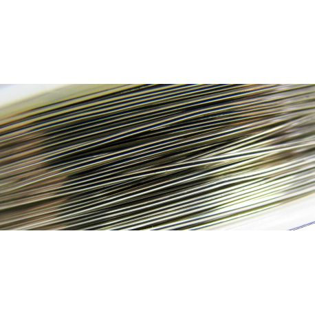 Copper wire, silver, 0.70 mm thick 5 meters