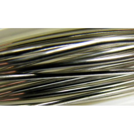 Copper wire, silver,1.00 mm thick 1 meter