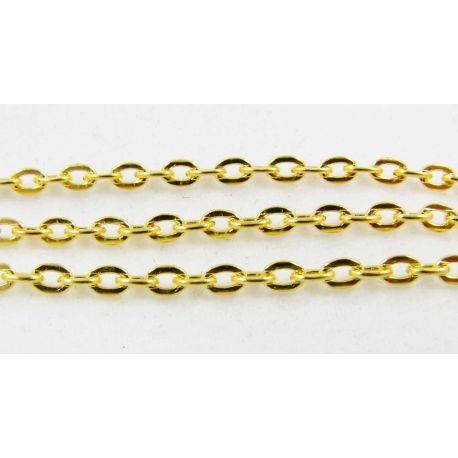 Grandinėlė aukso spalvos, 3x2,5 mm, 10 cm ilgio