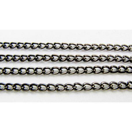 Chain black, 4x3 mm, 10 cm long