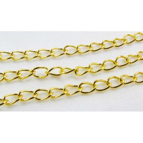 Grandinėlė aukso spalvos, 5,5x3,5 mm, 10 cm ilgio