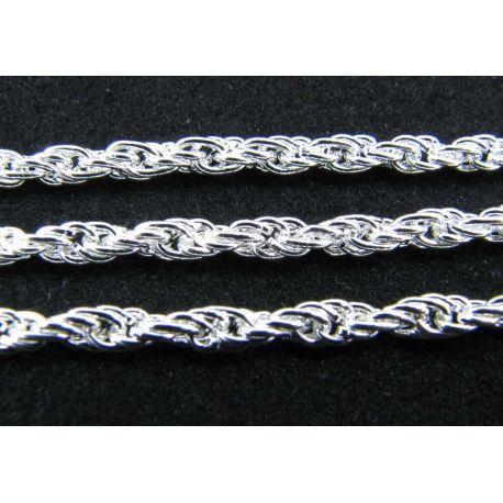 Grandinėlė sidabro spalvos, 3x0,6 mm, 10 cm ilgio