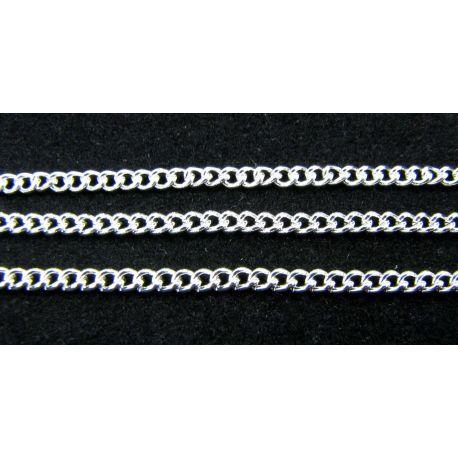 Chain silver, 3x2.2 mm, length 10 cm