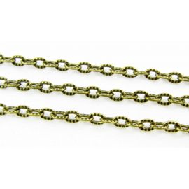 Chain with texture 4x3 mm 10 cm