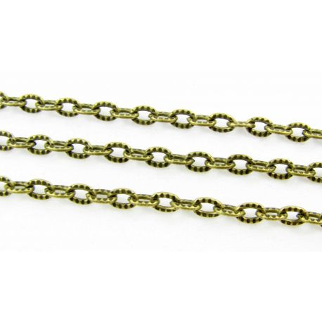 Chain with texture, bronze, 4x5x3 mm, length 10 cm