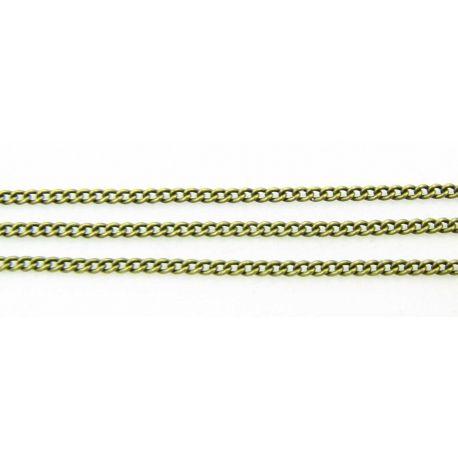 Grandinėlė sendintos bronzinės spalvos, 2x1,5 mm, 10 cm ilgio