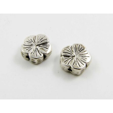 "Insert ""Flower"" aged silver color 9 mm"