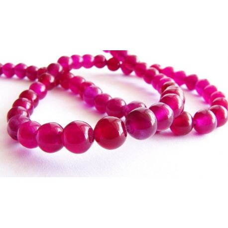 Stone beads purple round shape 6mm