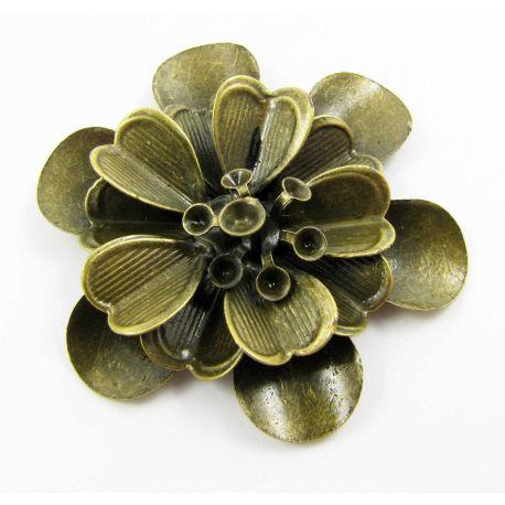 """Ažūrinė plokštelė """"Gėlė"""" 3D skirta papuošalų gamybai 46x41 mm"""