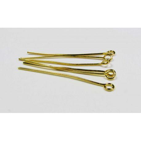 Adatas rotaslietu izgatavošanai zelta krāsā, ar cilpu 35x0,7 mm