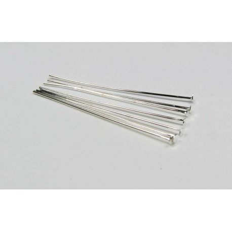 Copper pins for jewelry making silver flat head 28x0.5 mm